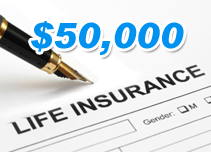 $50,000 life insurance policy