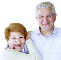 man and woman looking for seniors life insurance